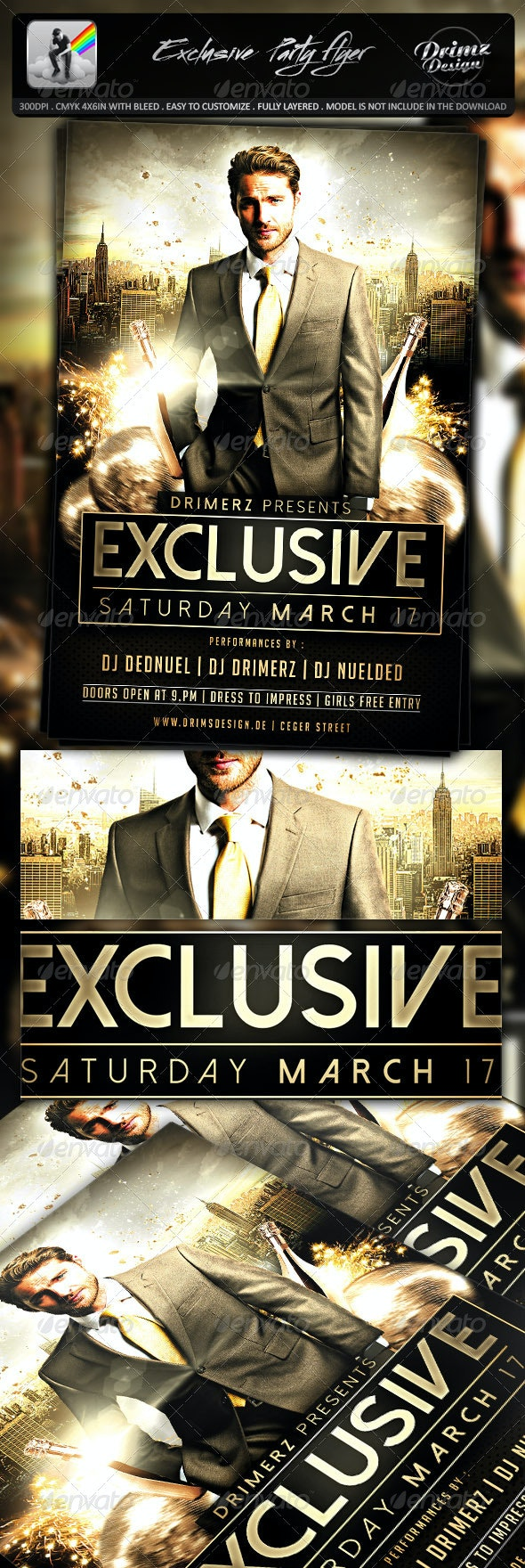 Exclusive Party Flyer - Events Flyers