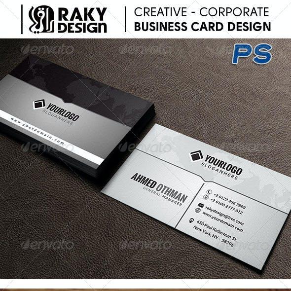 Creative Gray Business Card V08