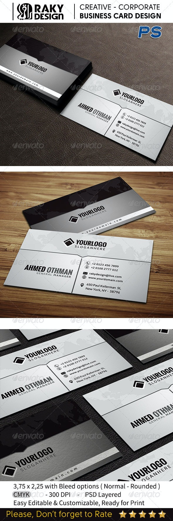 Creative Gray Business Card V08 - Creative Business Cards