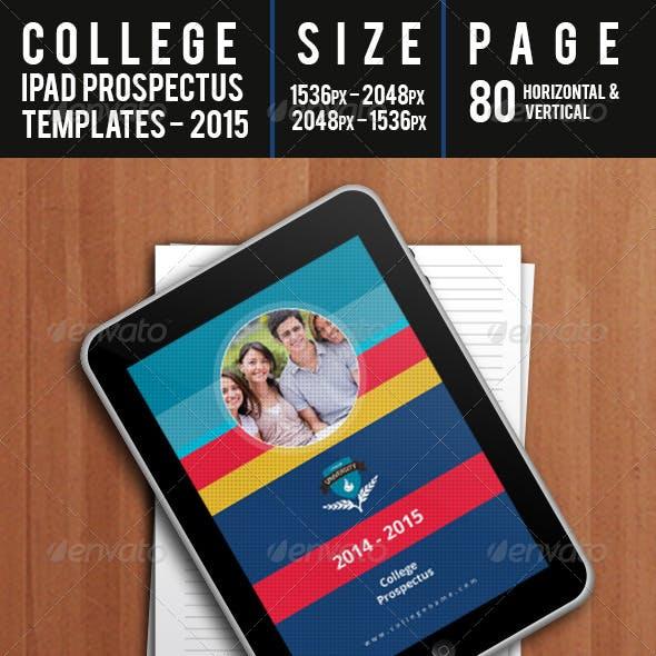 College - Ipad Prospectus Templates 2015