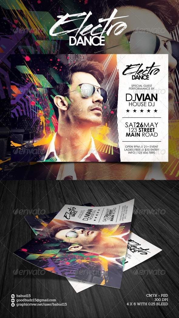 Electro Dance Flyer Template - Events Flyers