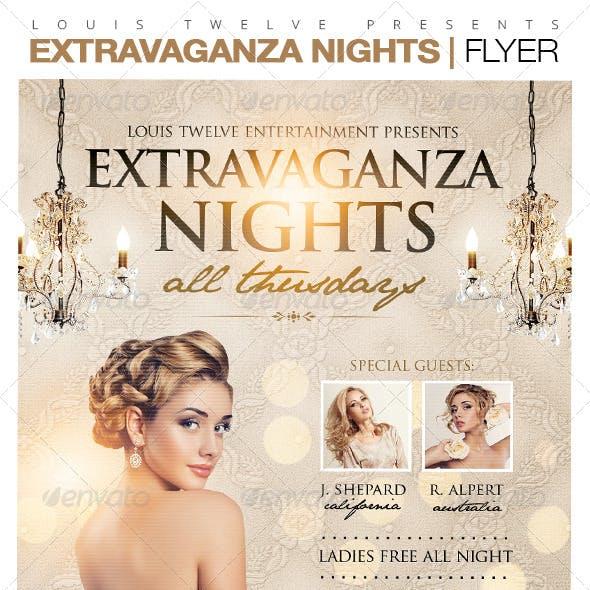 Extravaganza Nights Flyer Template