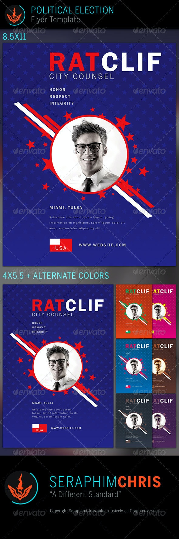 Political Election Flyer Template 3 - Corporate Flyers