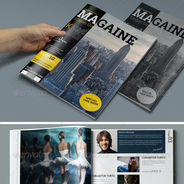 30 Pages Magazine Template