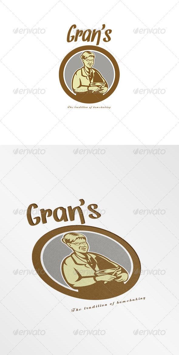 Gran's Traditional Homebaking Logo - Humans Logo Templates