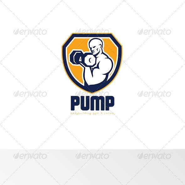 Pump Bodybuilding Gym Logo