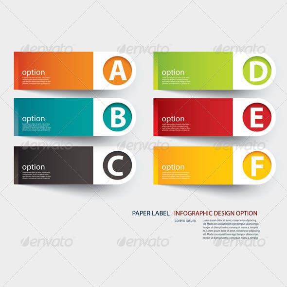 Abstract  Paper Cut Infographics Template