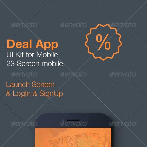 Deal App - Mobile UI Kit