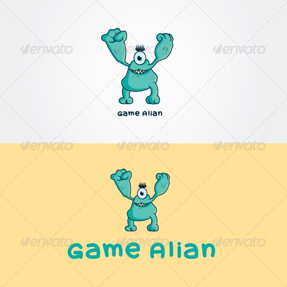 Game Alian Stock Logo Template