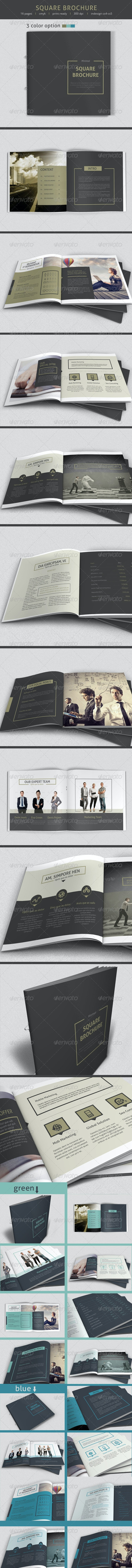Minimal Square Brochure - Informational Brochures
