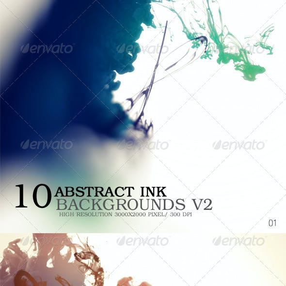 Abstract Ink Backgrounds V2