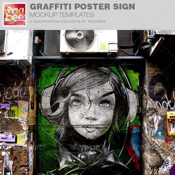 Graffiti Poster Art Mockup Template