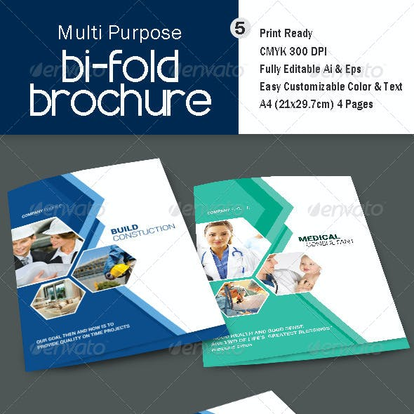 Multi Purpose Bi-Fold Brochre - V5
