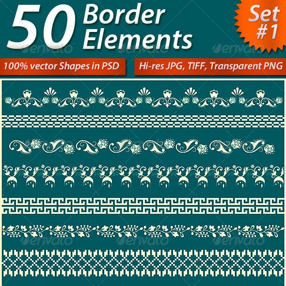 50 Border Elements Pack #1