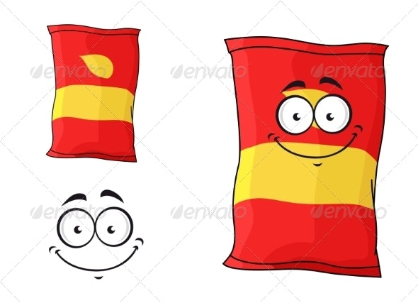 Packet of Chips or Crisps - Food Objects