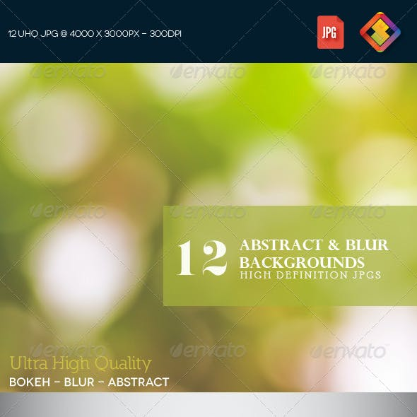 12HD Abstract & Blur Backgrounds V5