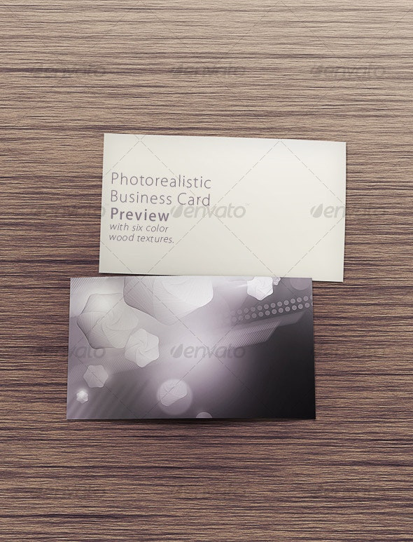 Photorealistic Business Card Preview - Business Cards Print