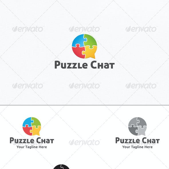 Puzzle Chat - Logo Template