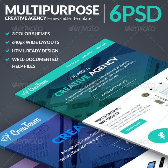 CreaTeam - Multipurpose E-newsletter Template