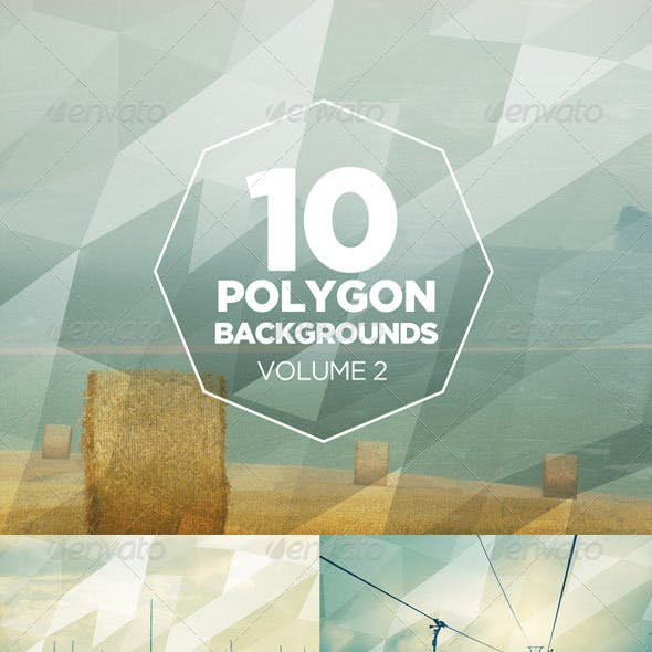 10 Polygon Backgrounds: Volume 2