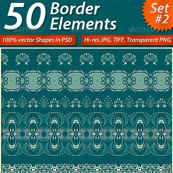 50 Border Elements Pack #2