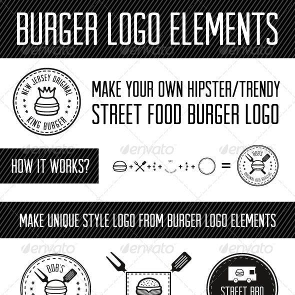 Burger Logo Elements