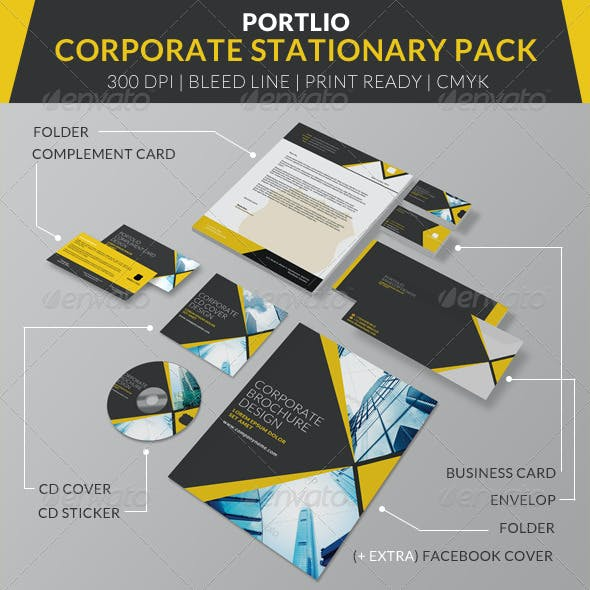 Portolio Corporate Stationary Pack