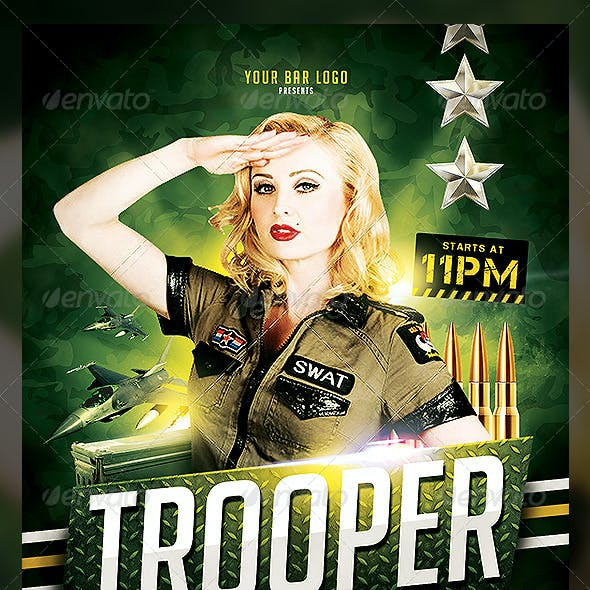 Trooper Flyer Template