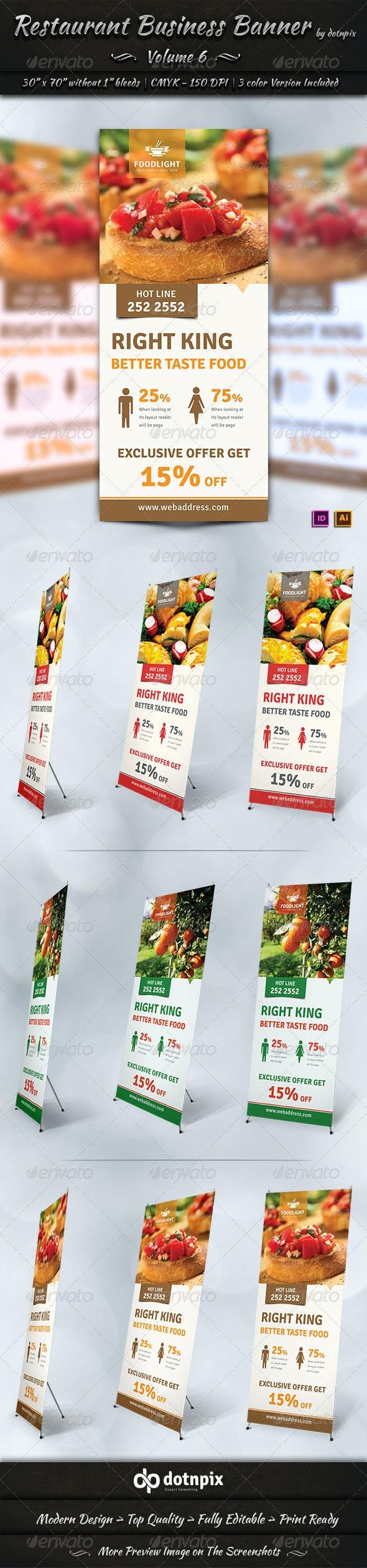 Restaurant Business Banner   Volume 6 - Signage Print Templates