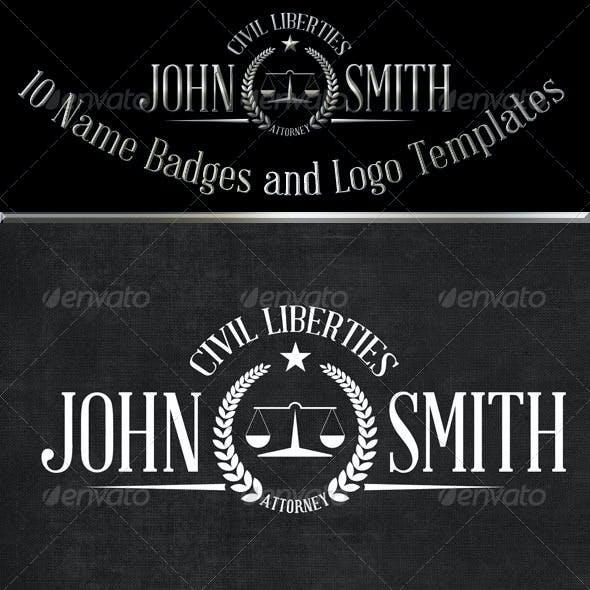 10 Name Based Badges & Logo Templates