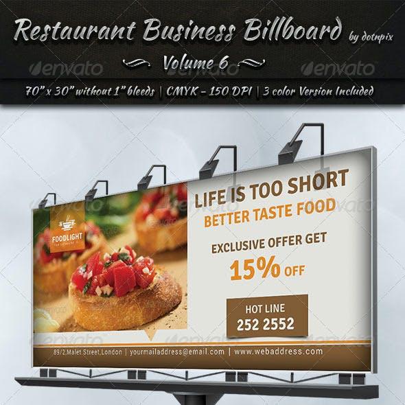 Restaurant Business Billboard | Volume 6