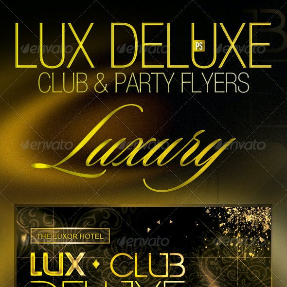 Lux Deluxe VIP Club Party Flyer