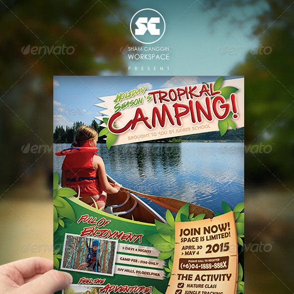 Camping Adventure Flyer / Magazine Ads