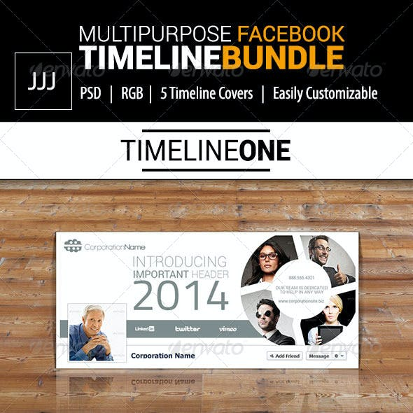 Business Facebook Timeline Bundle Vol.1