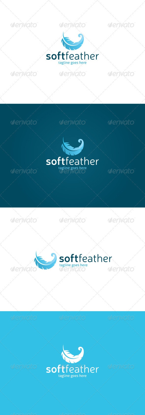 Soft Feather Logo - Vector Abstract