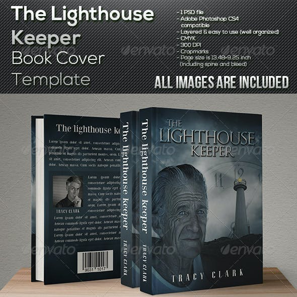 The Lighthouse Keeper - Book Cover Template