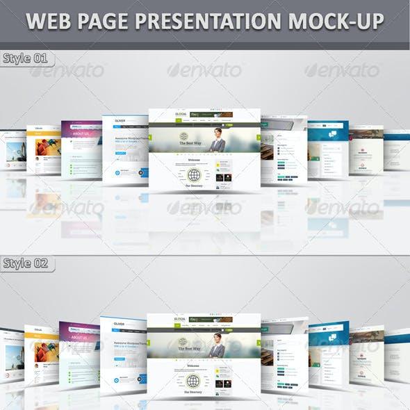 Web Page Presentation Mock-Up