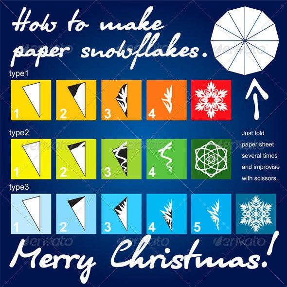 How to make paper snowflakes tutorial - Christmas Seasons/Holidays