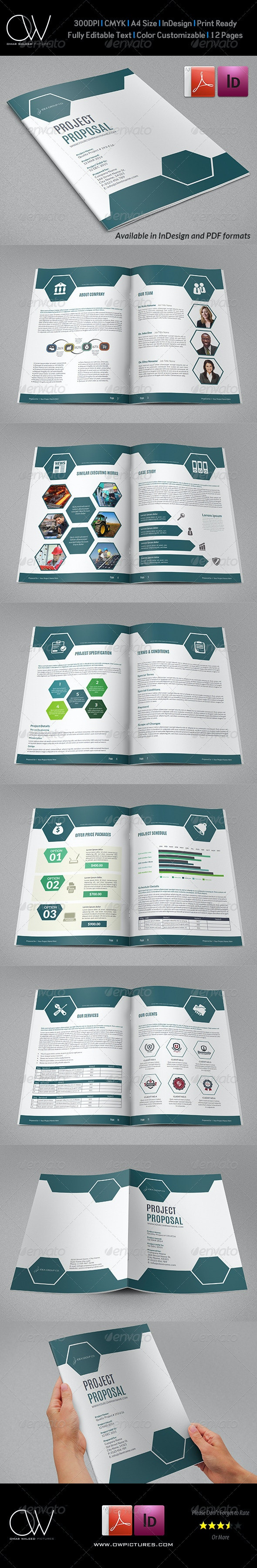 Company Proposal Brochure Template Vol.3 - Proposals & Invoices Stationery