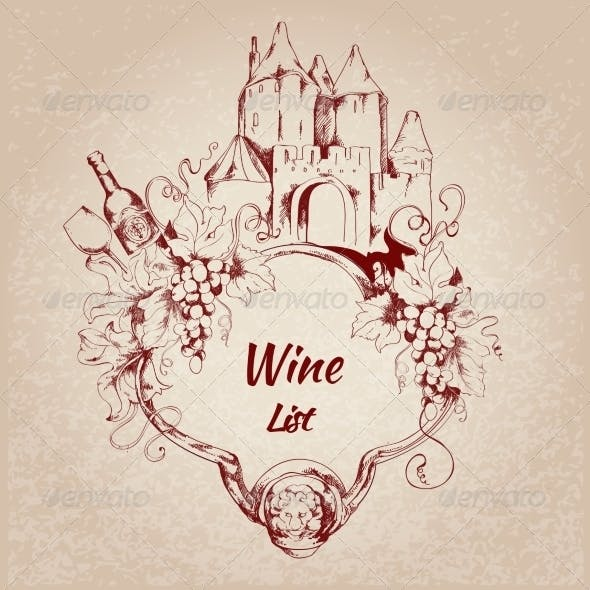 Wine List Label