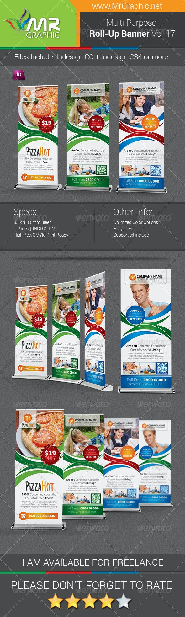 Multipurpose Business Roll-Up Banner Vol-17 - Signage Print Templates