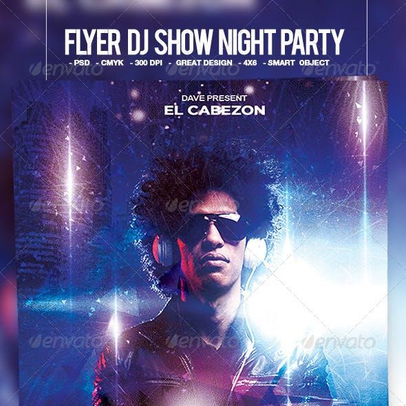 Flyer DJ Show Night Party