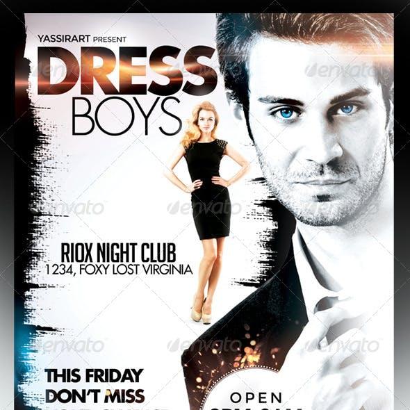 Dress Boys Party Flyer