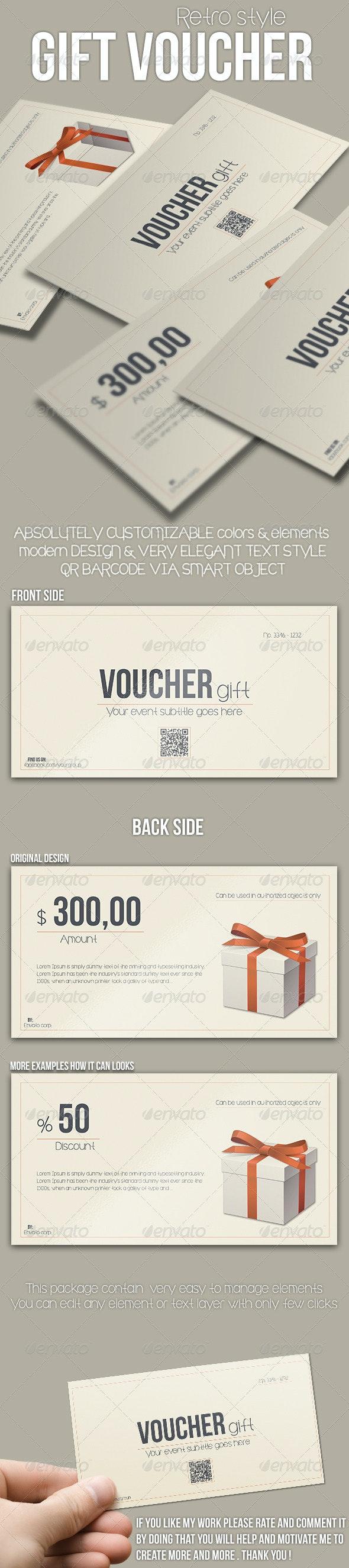 Multipurpose Retro Voucher - Cards & Invites Print Templates