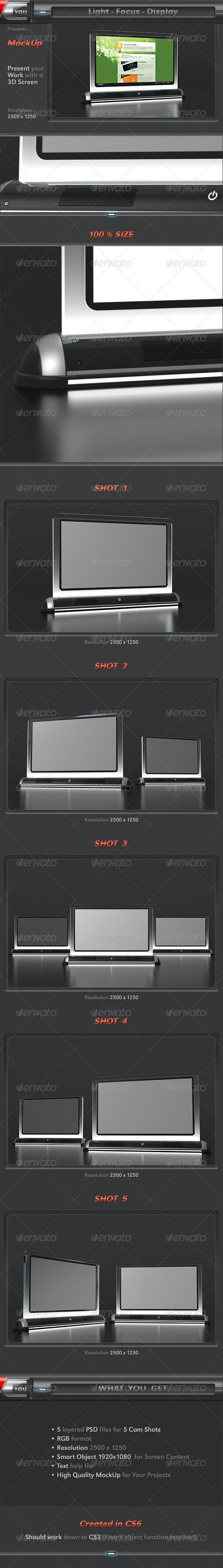 Light Focus Display Screen Mock-Up - Miscellaneous Displays