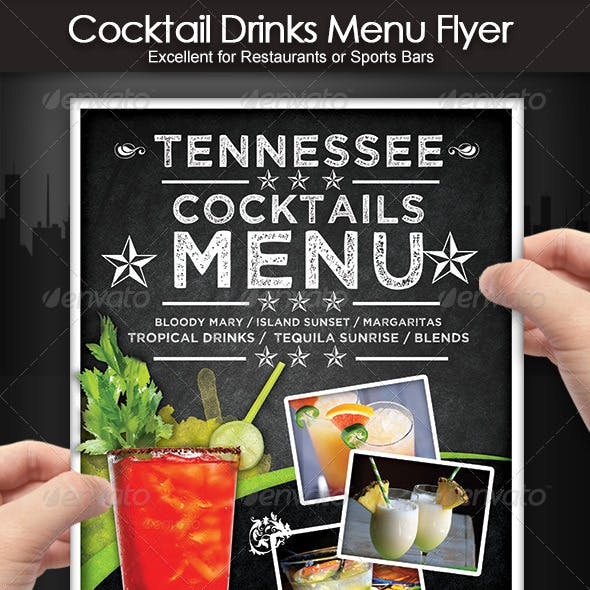 Cocktail Drinks Menu Flyer