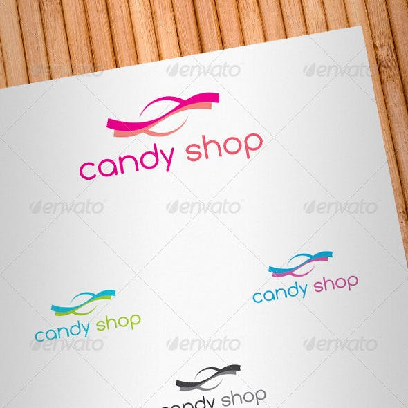 Candy Shop Logo Template
