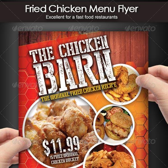 Fried Chicken Menu Flyer