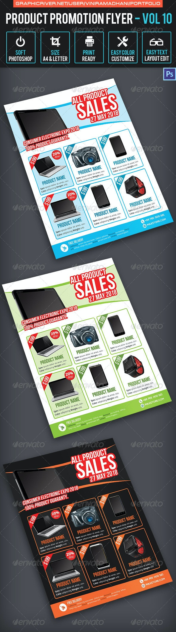 Product Promotion Flyer Volume 10 - Corporate Flyers