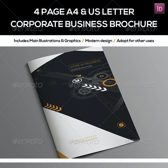 4 Page A4 and US Letter Company Brochure